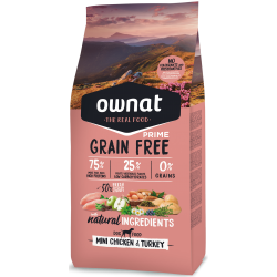 Ownat Grain Free Prime - Mini Chicken & Turkey