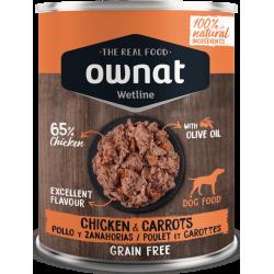 Ownat Wetline - Chicken & Carrots 6x400gr