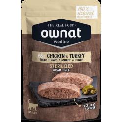 Ownat Wetline - Sterilized Chicken & Turkey 85 gr
