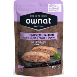 Ownat Wetline - Sterilized Chicken & Salmon 6 x 85gr