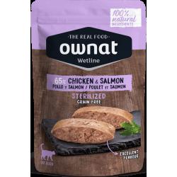 Ownat Wetline - Sterilized Chicken & Salmon 85gr