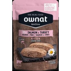 Ownat Wetline - Kitten Salmon & Turkey 85gr