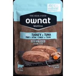 Ownat Wetline - Sterilized Turkey & Tuna 85gr