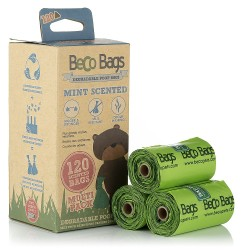 Beco Pets - sacs à crottes dégradables - menthe parfumée