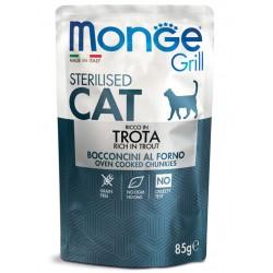 Monge Grill - Sterilised Adult Truite 6 x 85 Gr