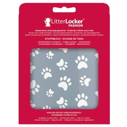 LitterLocker Fashion - housse de tissu Cat Paws Grey