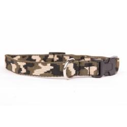 Collier nylon camouflage