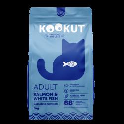 Kookut Adult chat - Saumon et Poisson blanc