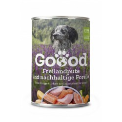 Goood - Pâtée chien senior à la dinde fermière & truite durable (sans céréales) 400 g
